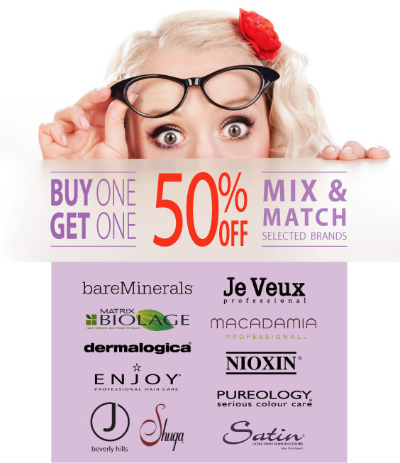 BOGO 50% OFF Selected Products