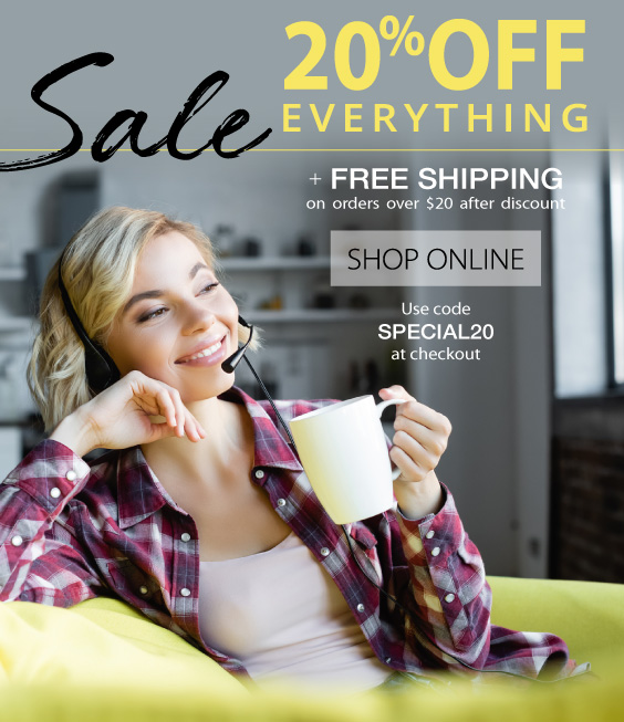 20% OFF Everything Online